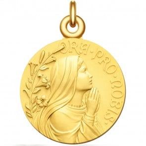 Médaille Vierge Jeune Ora Pro Nobis