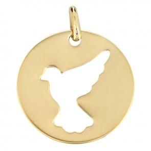 Médaille colombe en vol (Or Jaune)