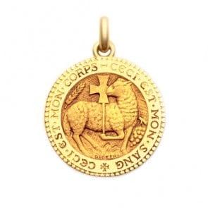 Médaille Agneau Mystique  - medaillle bapteme Becker