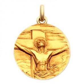 Médaille Christ Rédemption  - medaillle bapteme Becker