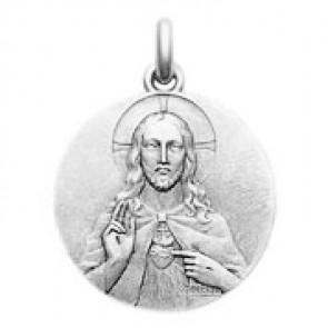 Médaille Christ Sacré Coeur  (argent)