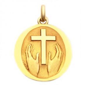 Médaille Credo Deo  - medaillle bapteme Becker