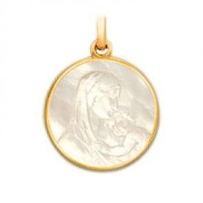 Médaille de la Maternité en nacre - medaillle bapteme Becker