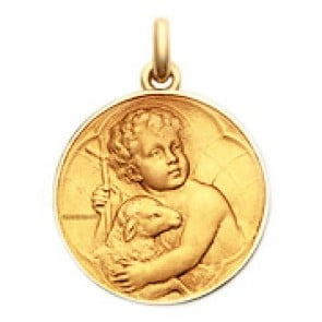 Médaille Enfant Jésus  - medaillle bapteme Becker