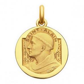 Médaille Saint Alain  - medaillle bapteme Becker