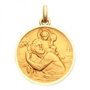 Médaille Becker Saint Christophe (Or Jaune)