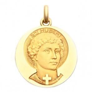 Médaille Saint Hubert  - medaillle bapteme Becker