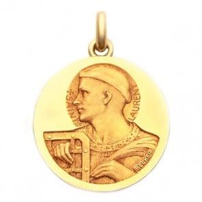 Médaille Saint Laurent  - medaillle bapteme Becker