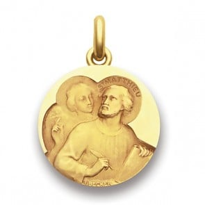 Médaille Saint Mathieu  - medaillle bapteme Becker