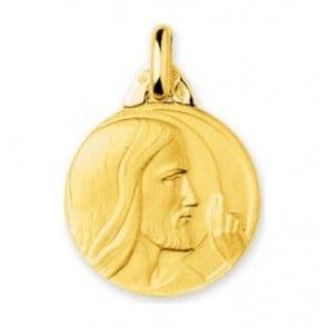Médaille Christ bénissant (Or Jaune 9k)