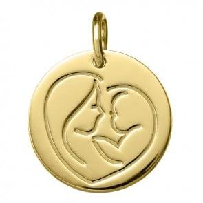 Médaille Coeur de Maman (Or jaune 9K)