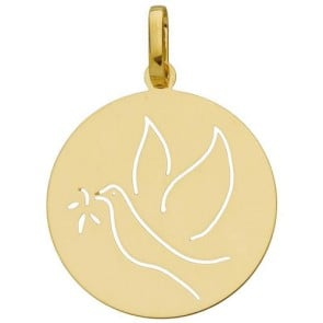 Médaille colombe ajourée (Or Jaune)