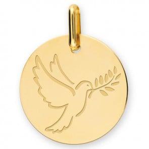 Médaille Colombe au Rameau (Or Jaune 9K)