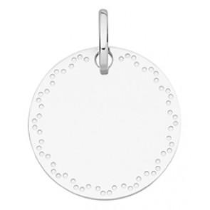 Médaille Contour Pointillé (Or Blanc)