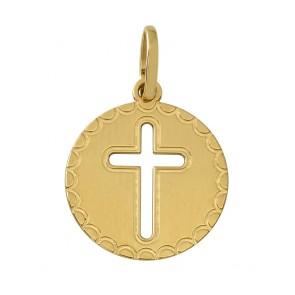 Médaille Croix Ajourée Dentelée (Or Jaune)