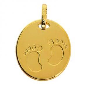 Médaille empreintes de pieds (Or Jaune)