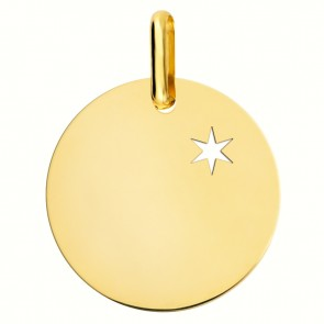 Médaille une étoile te guidera (Or Jaune)