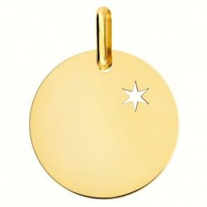 Médaille une étoile te guidera (Or Jaune 9 carats)