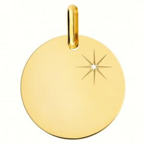 Médaille étoile scintillante (Or Jaune)