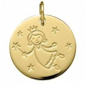 Médaille Fée Marraine (Or jaune 9K)