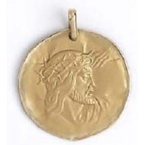 Médaille galet Christ (Or Jaune 9K)