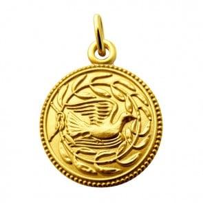 Médaille La colombe aux Lauriers (Or Jaune)