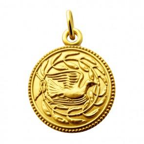 Médaille La colombe aux Lauriers Martineau (Or Jaune)