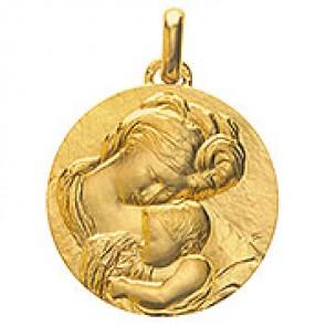 Médaille Madone du Caravage (Or Jaune)