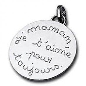 Médaille Maman je t'aime pour toujours (Argent)