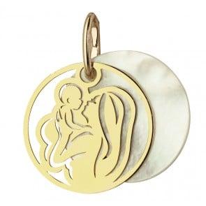 Médaille Maternité Or et Nacre (Or jaune