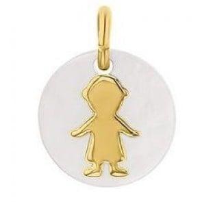 Médaille Nacre garçon (Or Jaune)