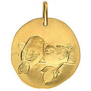 Médaille Oiseaux (Or Jaune)