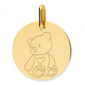 Médaille ourson (Or Jaune)