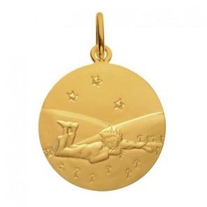 Médaille Petit Prince couché dans l'herbe (Or Jaune)