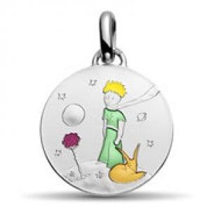 Médaille Petit Prince en couleur (Argent)