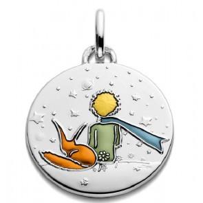 Médaille Petit Prince et le Renard en couleur (Argent)