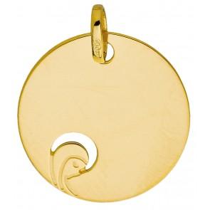 Médaille petite Vierge ajourée (Or Jaune 9K)