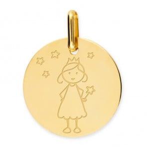 Médaille princesse (Or Jaune 9k)
