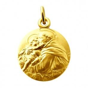 Médaille Saint Antoine de Padoue Martineau (Or Jaune)