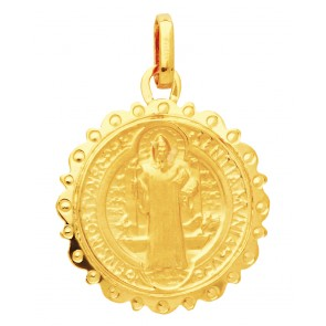 Médaille Saint Benoît (Or Jaune)