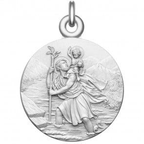 Medaille bapteme Saint Christophe argent massif