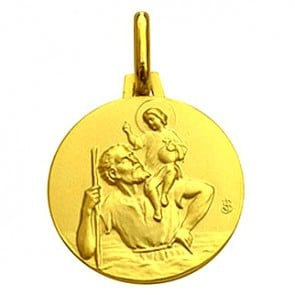 Médaille Saint-Christophe (or jaune)