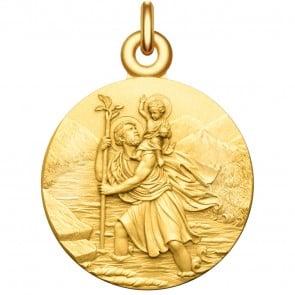 Medaille bapteme Saint Christophe