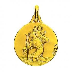 Médaille Saint-Christophe profil droit (Or Jaune)