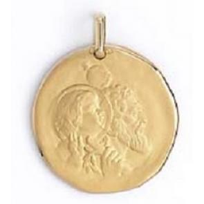 Médaille galet Saint-Christophe (Or Jaune 9K)