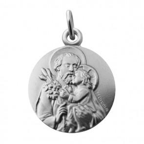Médaille Saint Joseph et l'Enfant (Argent