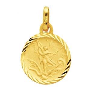 Médaille Archange Saint-Michel ciselée (Or Jaune)