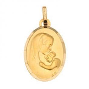 Médaille Vierge à l'enfant Ovale