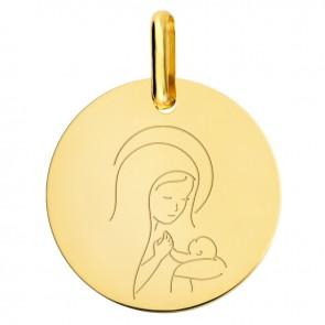 Médaille Vierge à l'Enfant Amour Maternel