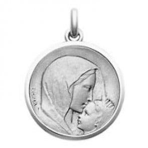 Médaille Vierge à l'Enfant - Le Baiser (argent)